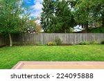countryside house backyard with ... | Shutterstock . vector #224095888