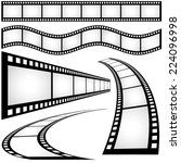 filmstrip   black and white... | Shutterstock . vector #224096998