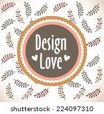 template frame design for... | Shutterstock .eps vector #224097310