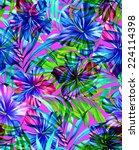 seamless layered artistic... | Shutterstock . vector #224114398