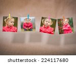 little cute girl on a warm... | Shutterstock . vector #224117680