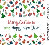 merry christmas and happy new... | Shutterstock .eps vector #224118220