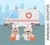 medicine doctor ambulance | Shutterstock .eps vector #224119720