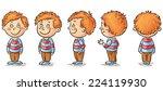 little boy cartoon character... | Shutterstock .eps vector #224119930