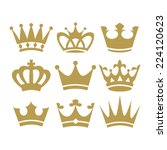 crown icons | Shutterstock .eps vector #224120623