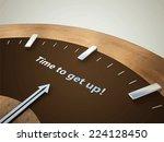 vector clock 3d  | Shutterstock .eps vector #224128450