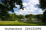 the fountains in the park | Shutterstock . vector #224131090