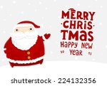 santa claus with merry... | Shutterstock .eps vector #224132356