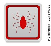 spider square icon on white... | Shutterstock . vector #224134918