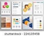 set of flyer  brochure design...   Shutterstock .eps vector #224135458
