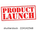 product launch red rubber stamp ... | Shutterstock . vector #224142568