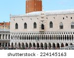 part of ducal palace in front... | Shutterstock . vector #224145163