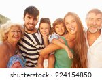 multi generation family giving... | Shutterstock . vector #224154850