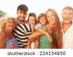 multi generation family giving...   Shutterstock . vector #224154850