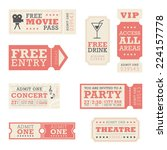 entertainment tickets  | Shutterstock .eps vector #224157778