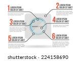 pill infographic layout vector... | Shutterstock .eps vector #224158690