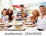multi generation family... | Shutterstock . vector #224159050