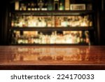 Stock photo dark brown top of bar and free space for your glass 224170033