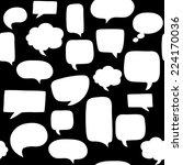 speech bubbles seamless pattern   Shutterstock .eps vector #224170036