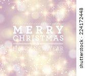 vector christmas abstract bokeh ... | Shutterstock .eps vector #224172448