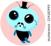 unusual  alien baby character....   Shutterstock .eps vector #224182993
