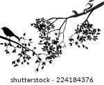 illustration of silhouettes of... | Shutterstock .eps vector #224184376