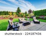 impressive backyard landscape... | Shutterstock . vector #224187436