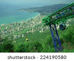 Cable Cars Overlooking Jounieh...