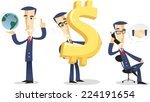 businessman character set... | Shutterstock .eps vector #224191654