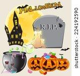 halloween set 2   Shutterstock .eps vector #224192590