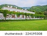 montenegro   old hotel in the... | Shutterstock . vector #224195308