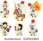 medieval knight cartoon... | Shutterstock .eps vector #224201863