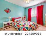 Cheerful Bedroom Interior In...