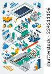 technology background  exploded ... | Shutterstock .eps vector #224211106