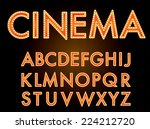 vector cinema font. | Shutterstock .eps vector #224212720
