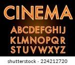 vector cinema font.   Shutterstock .eps vector #224212720