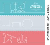 flat colors infographics with... | Shutterstock .eps vector #224215033