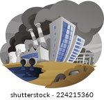 polluting city contaminating... | Shutterstock .eps vector #224215360