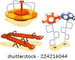 park playground equipment set... | Shutterstock .eps vector #224216044