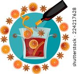 Mulled Wine. Vector Illustration
