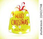 vector cute sketch doodle merry ... | Shutterstock .eps vector #224217748
