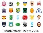 a set of soccer emblems on a... | Shutterstock .eps vector #224217916