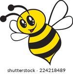 happy bee with big eyes   Shutterstock .eps vector #224218489