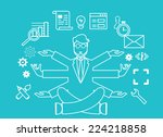 human resources and self...   Shutterstock .eps vector #224218858