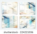 vector modern tri fold brochure ... | Shutterstock .eps vector #224221036