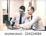 business  technology and office ... | Shutterstock . vector #224224084