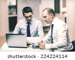 business  technology and office ... | Shutterstock . vector #224224114