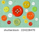buttons with texture | Shutterstock .eps vector #224228470