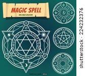 Magic Spells Ring Eps10 Vector