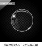 elegant transparent bubbles on... | Shutterstock .eps vector #224236810